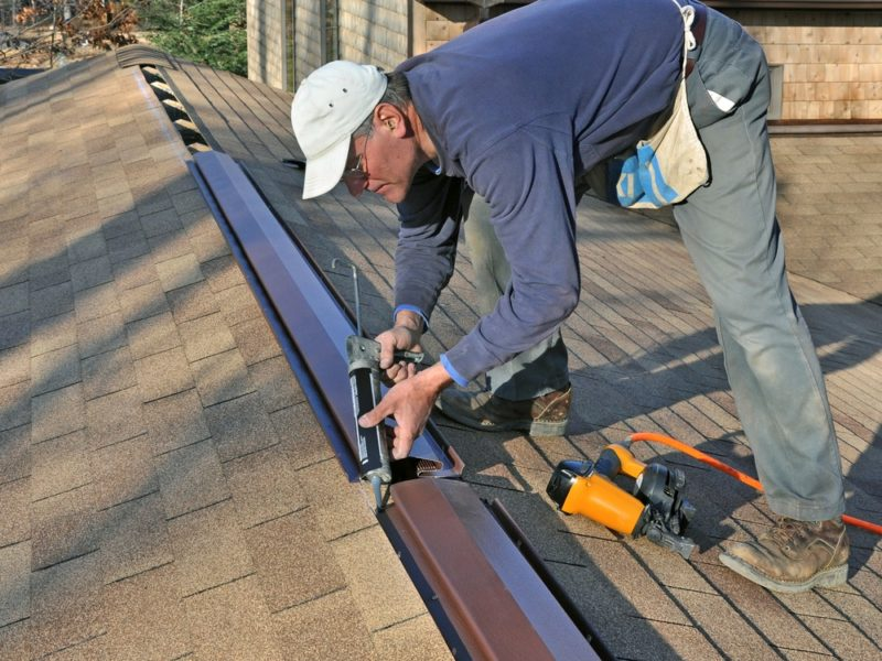 waterproofing roof cap stone