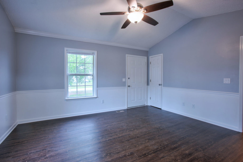 Chair Rail molding on walls in an empty dining room