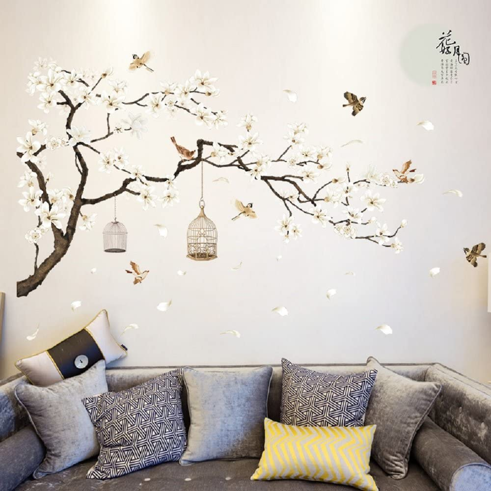 Removable wall stickers provide for attractive cheap wall covering option