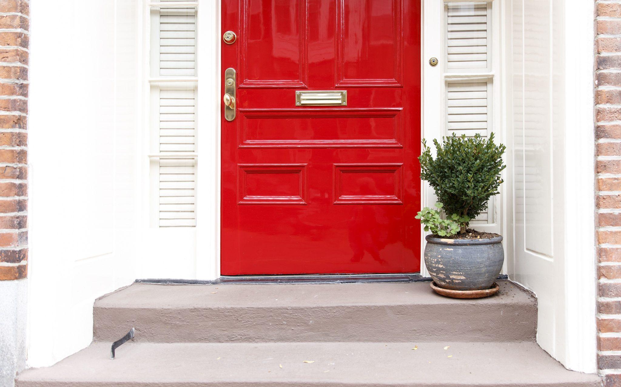front door, door sweep, front entrance, curb appeal