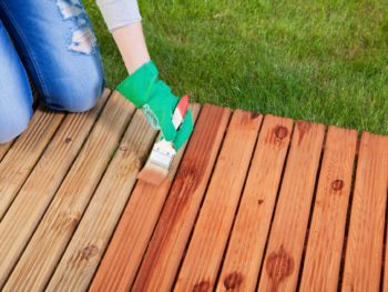 deck stain, wood