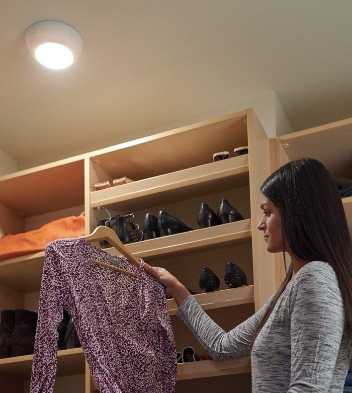 amount of lighting needed for closet