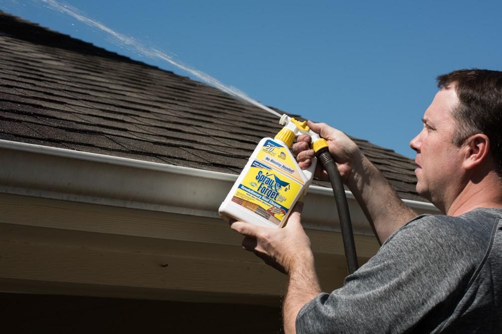 clean roof streaks
