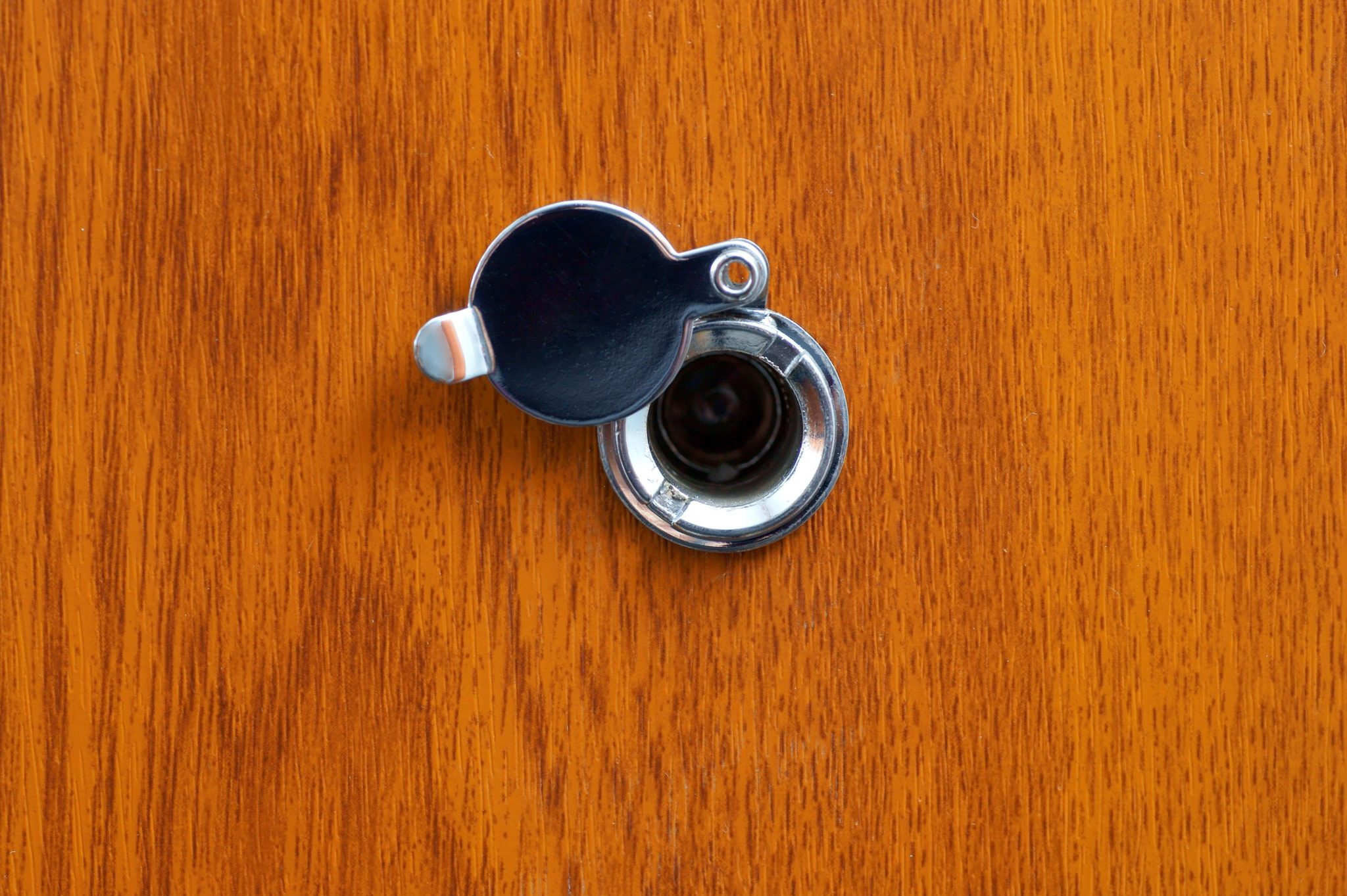 Ordinaire A Peep Hole In Your Front Door Gives You The Security Of Knowing Whou0027s On  The Other Side Of It. Adding A Peep Hole Viewer To Your Door Is A Simple  Project ...