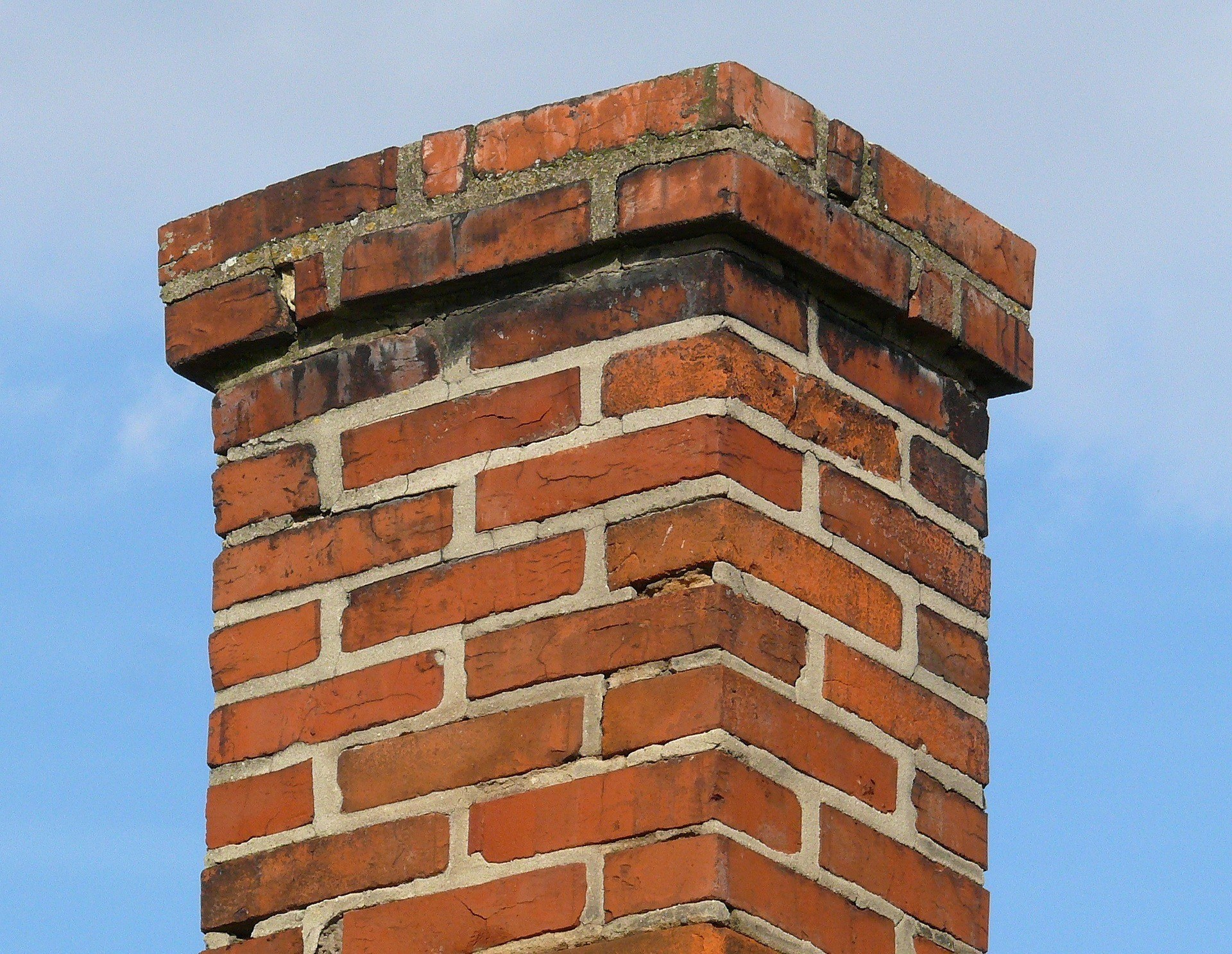 chimney, old, brick moisture