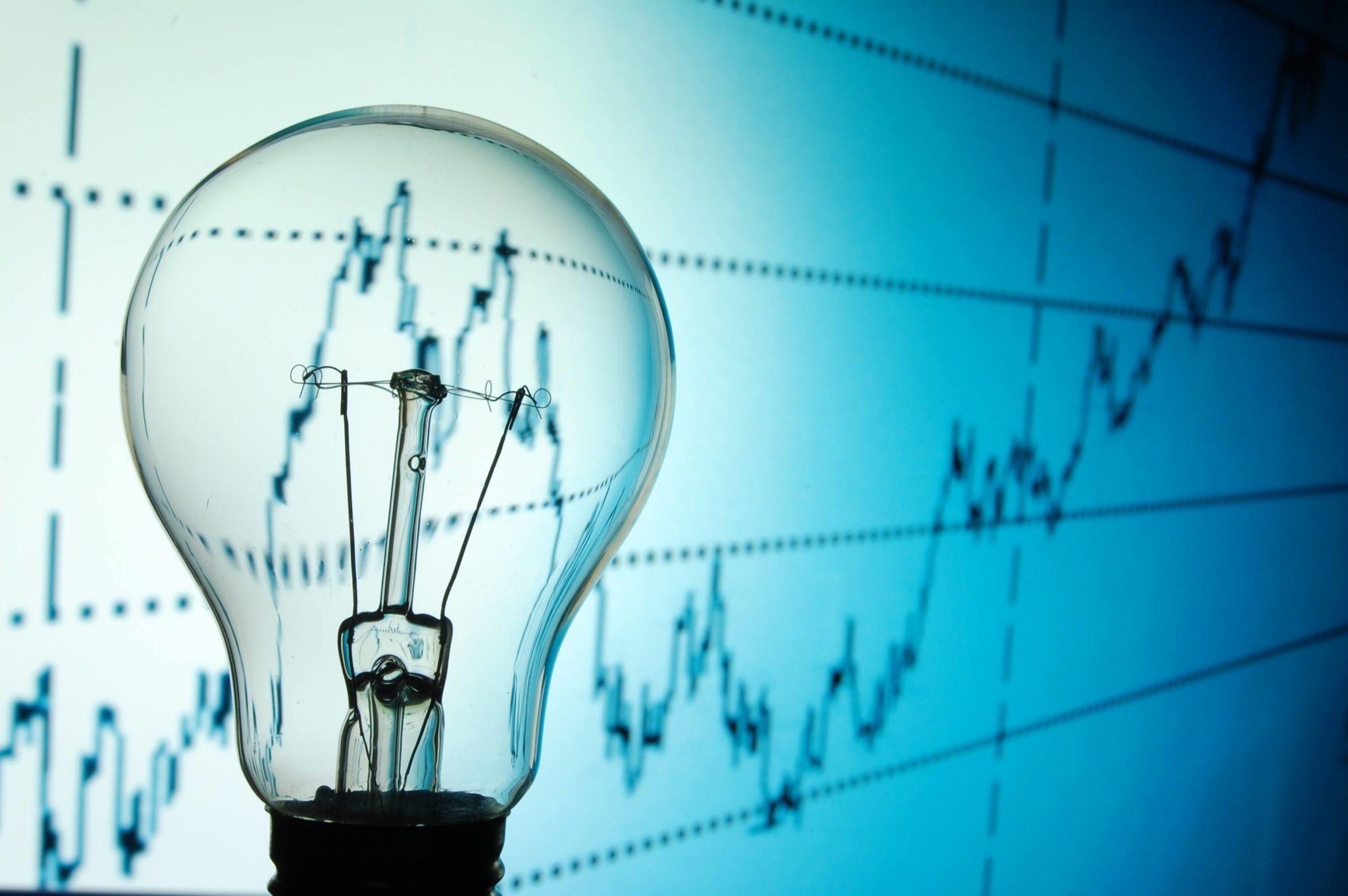 light bulb, idea, business, stock