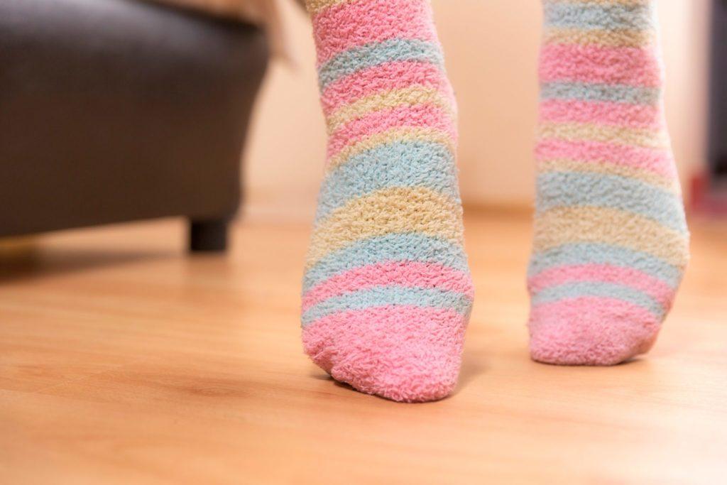 Feet on a floor