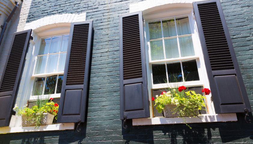 Georgetown historical district facades Washington