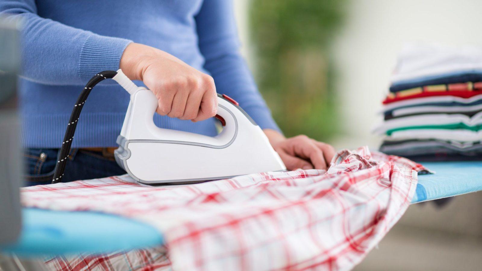 ironing, housework