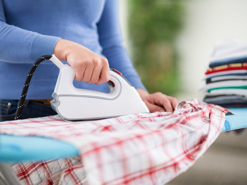 ironing, housework