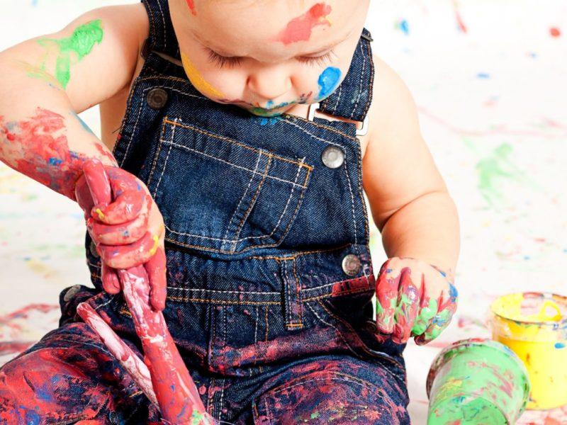 child, paint