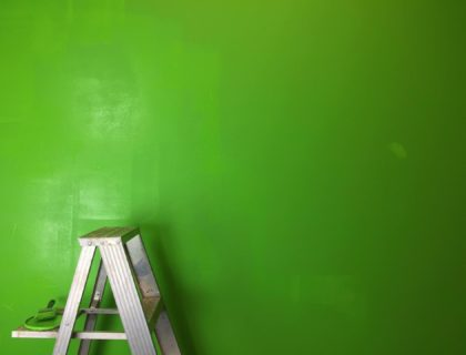 Painted Wall Ladder