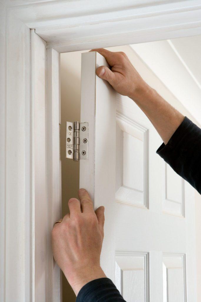 fix a sticking door, repair broken door
