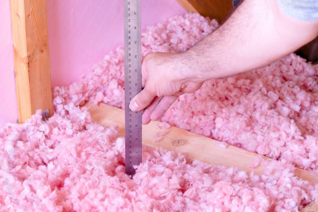 Measuring attic insulation