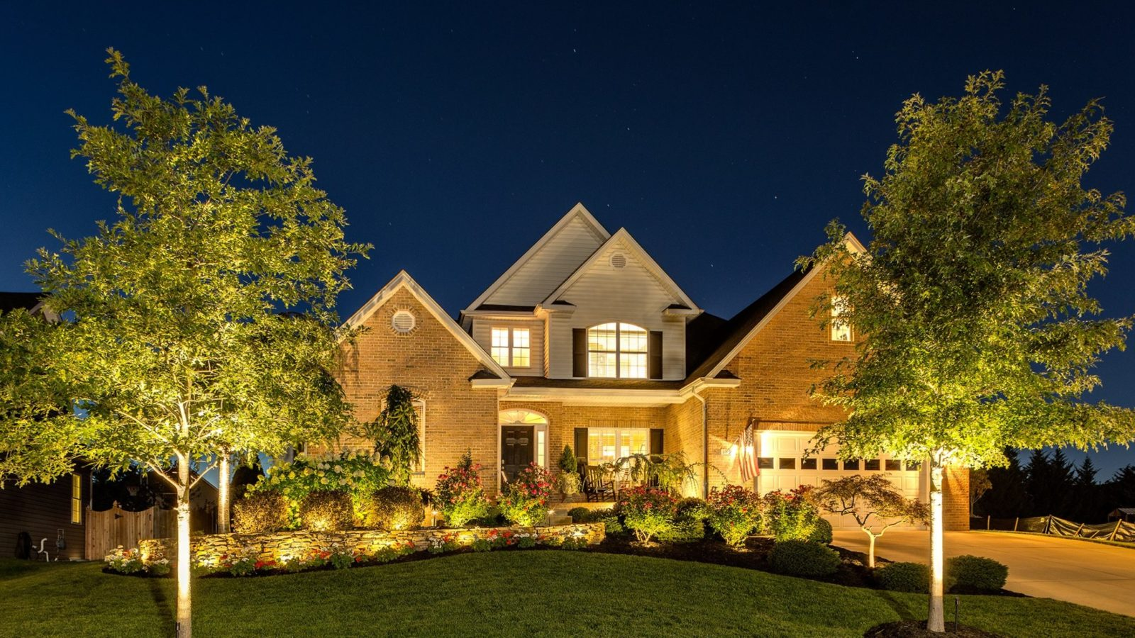 Landscape Lighting, holiday home security