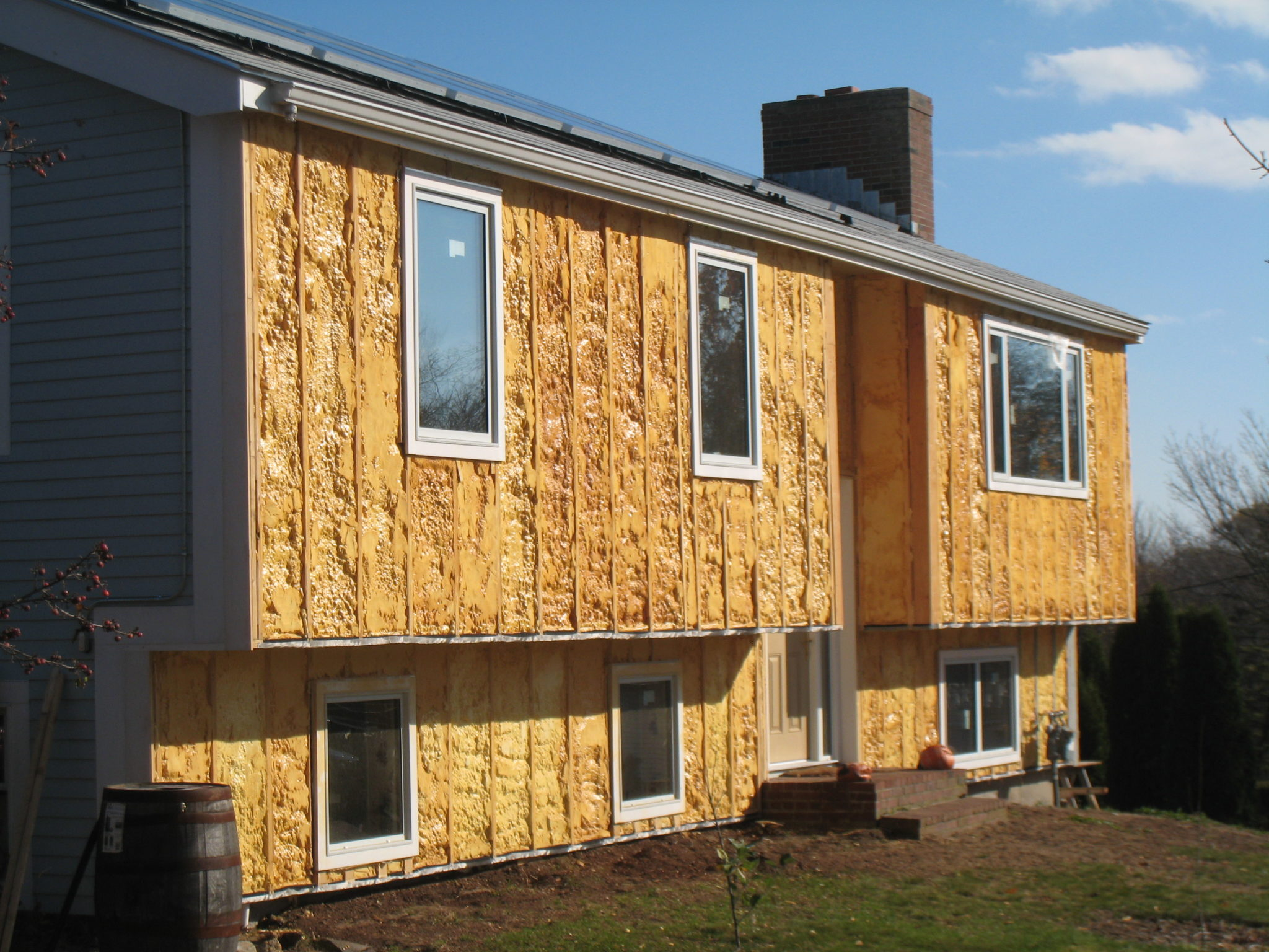 insulation, positive energy home