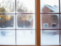 condensation in paned windows