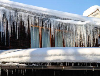 Winter Ice Dams on Gutters