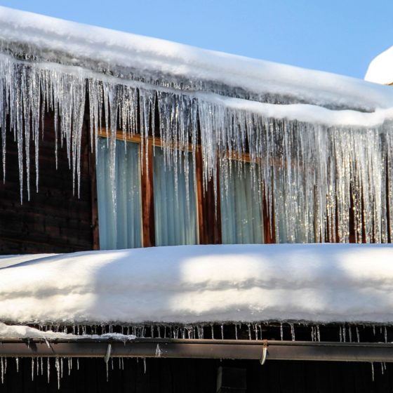 Winter Ice Dams on Gutters