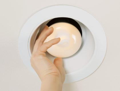 Testing New Light Bulb