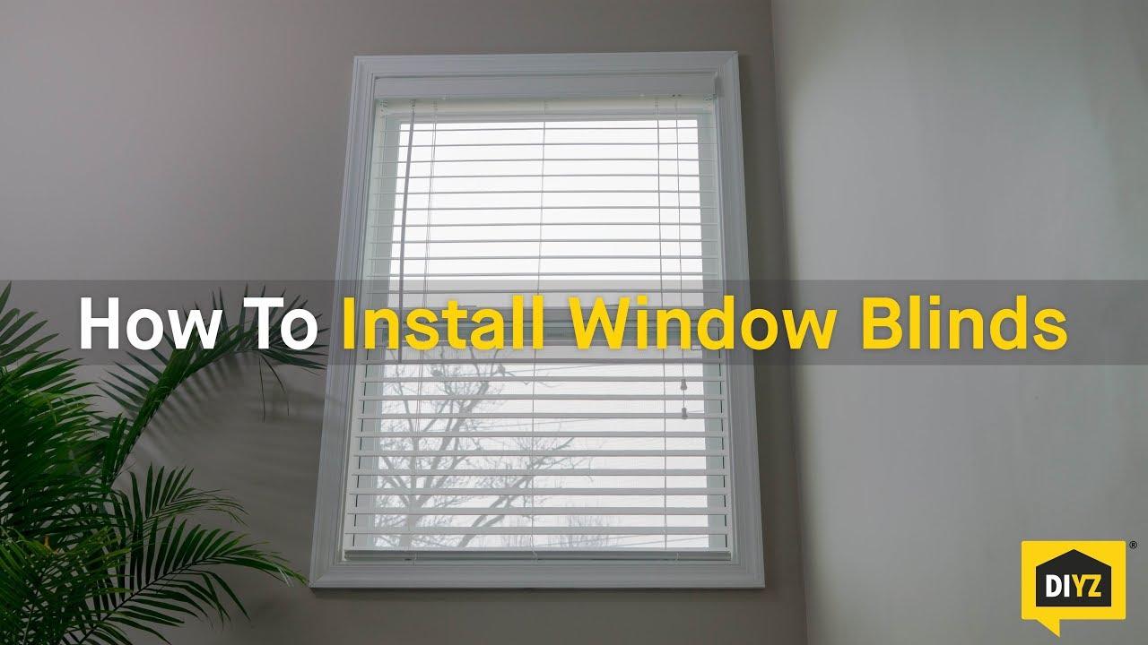 How do I install the blinds