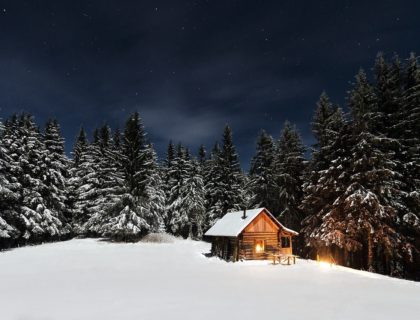 Winter,, Cottage