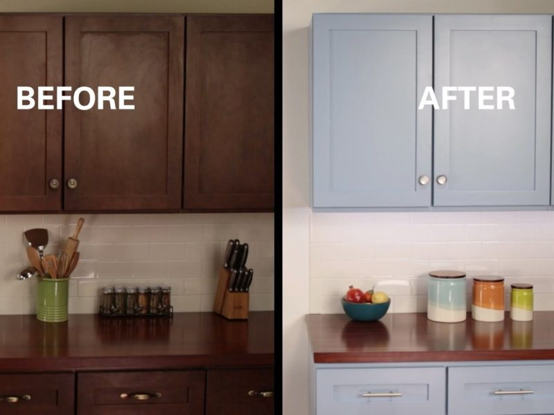 Re-doing Kitchen Cabinets: Sanding to Staining | The Money Pit