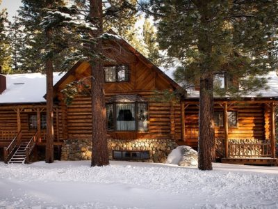 Vacation cabin in woods