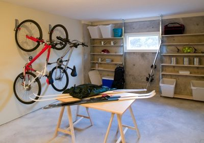 Neatly organized garage
