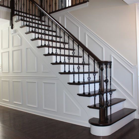 Staircase with Cast Iron