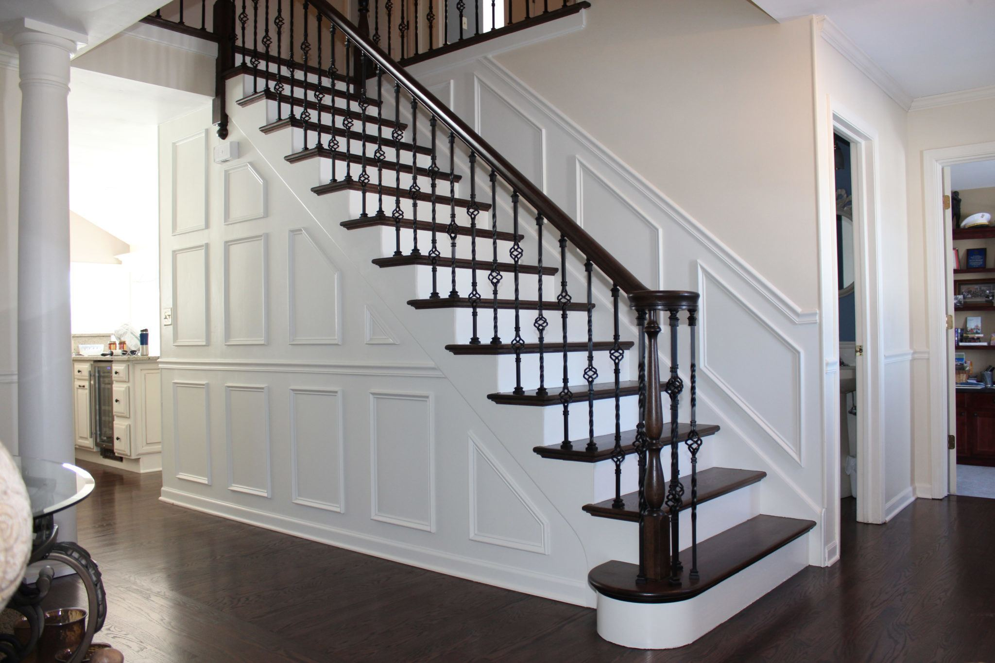 5 Stunning Stairway Trends for Your Home | The Money Pit on home painting designs, home deck designs, home brick designs, home wood designs, home staircase designs, home landscaping designs, home garden designs, home stairway designs, home porch designs, home wall designs, home shelves designs, home walkway designs, home porches designs, home building designs, home trellis designs, home park designs, home vinyl designs, home decking designs, home glass designs, home architectural designs,