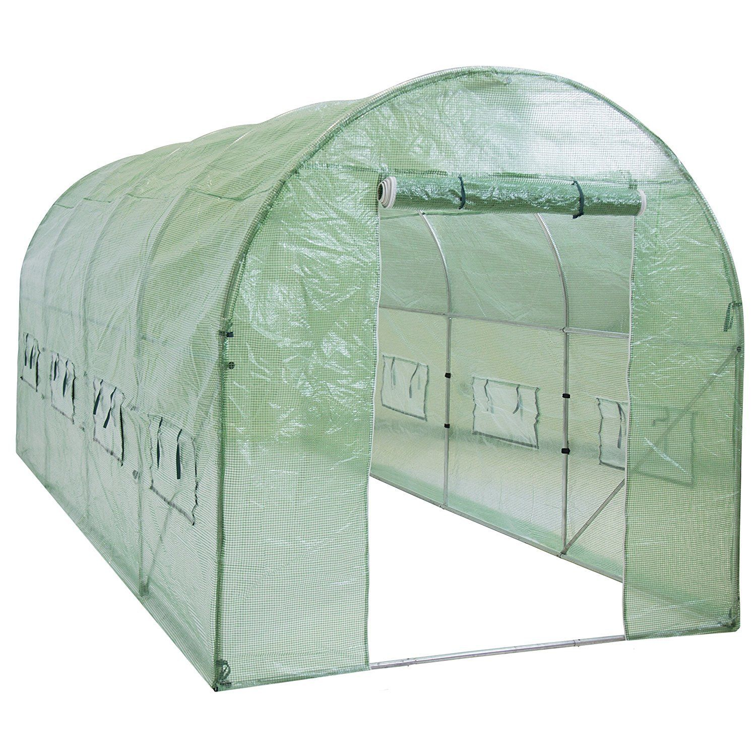 Large polytunnel greenhouse