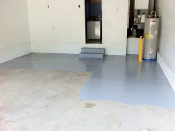 slope garage floor