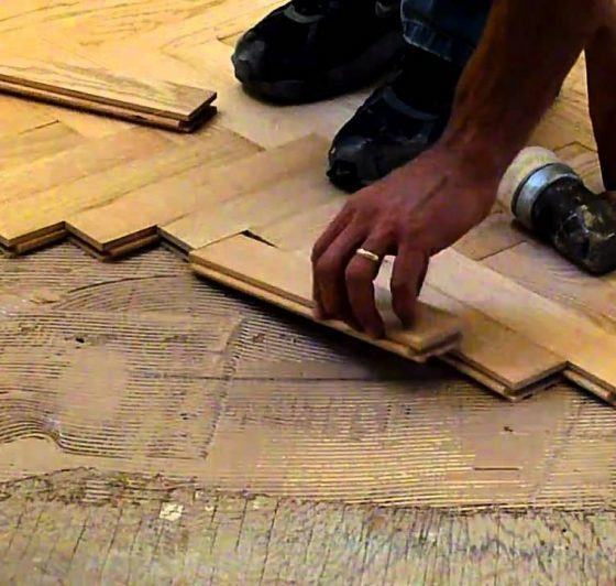 nailing hardwood