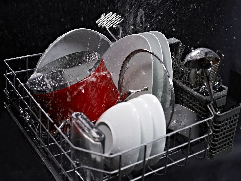 ENERGY STAR dishwasher in cycle