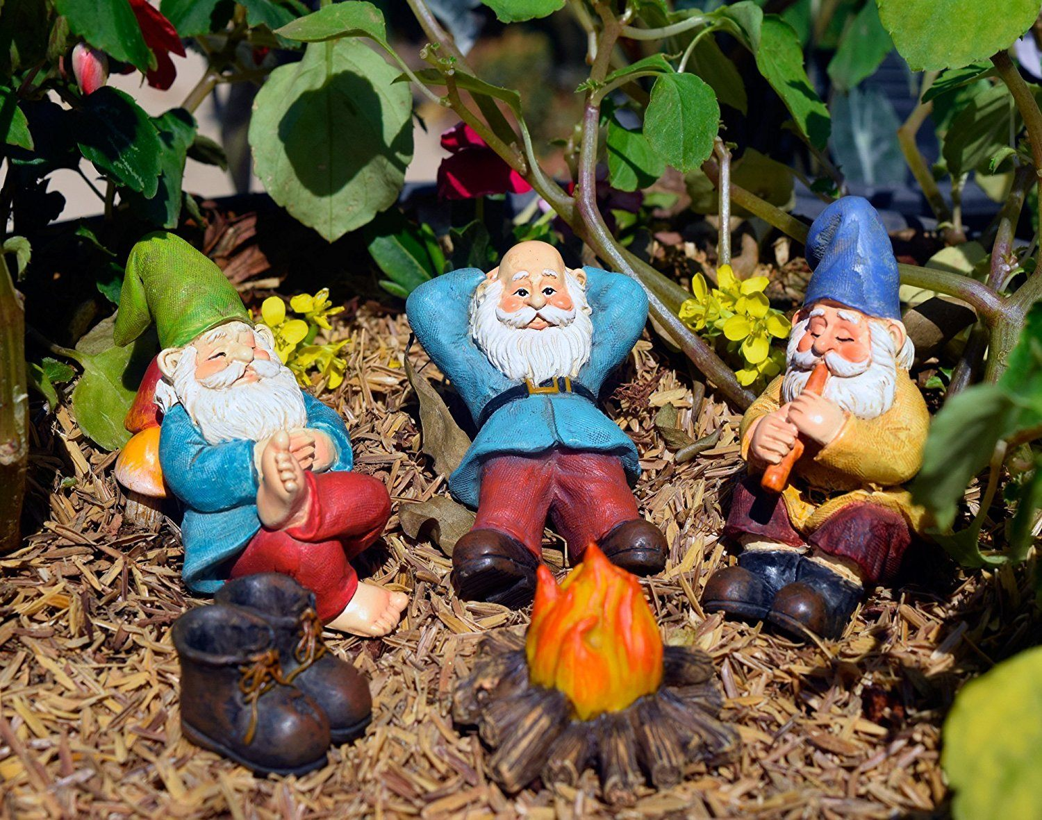 campfire gnomes, Fairy Garden Accessories