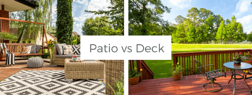 outdoor projects, patio vs. deck