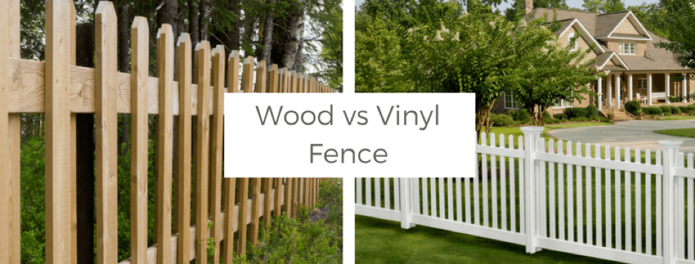outdoor projects, wood vs. vinyl fence
