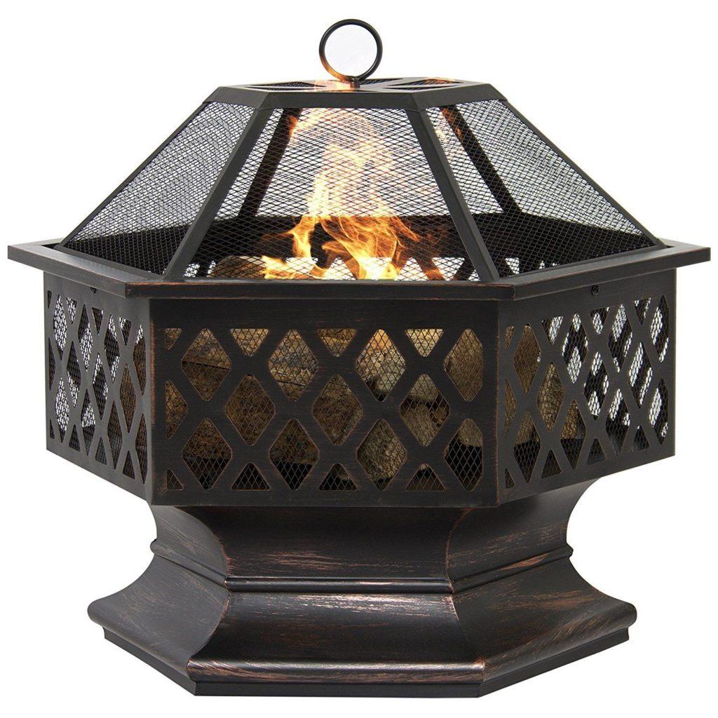 Hex Shaped Outdoor Home Garden Backyard Fireplace