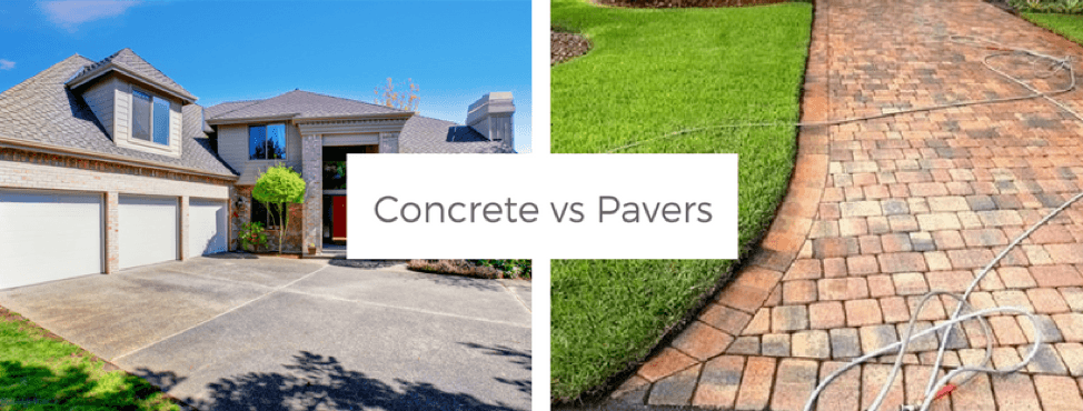 outdoor projects, concrete vs. pavers