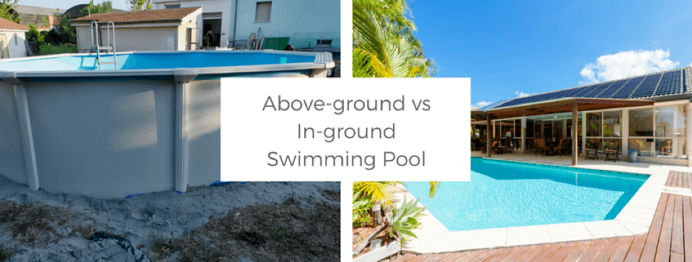 outdoor projects, in-ground pool vs. above=ground pool