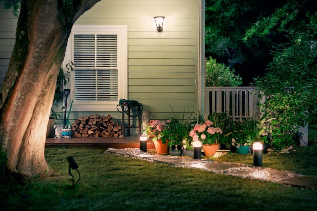 Outdoor energy efficient lighting in landscape