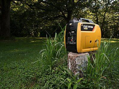 CAT INV2000 Generator in a tree stump