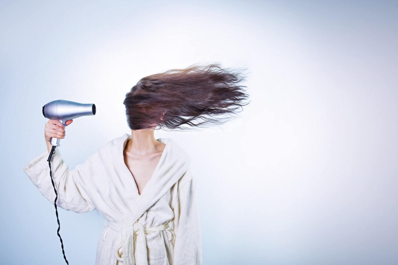 hair dryer, bathroom