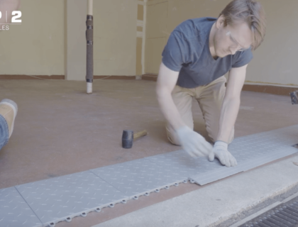 How to Tile a Garage Floor | Video