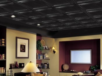 Drop ceiling in a basement