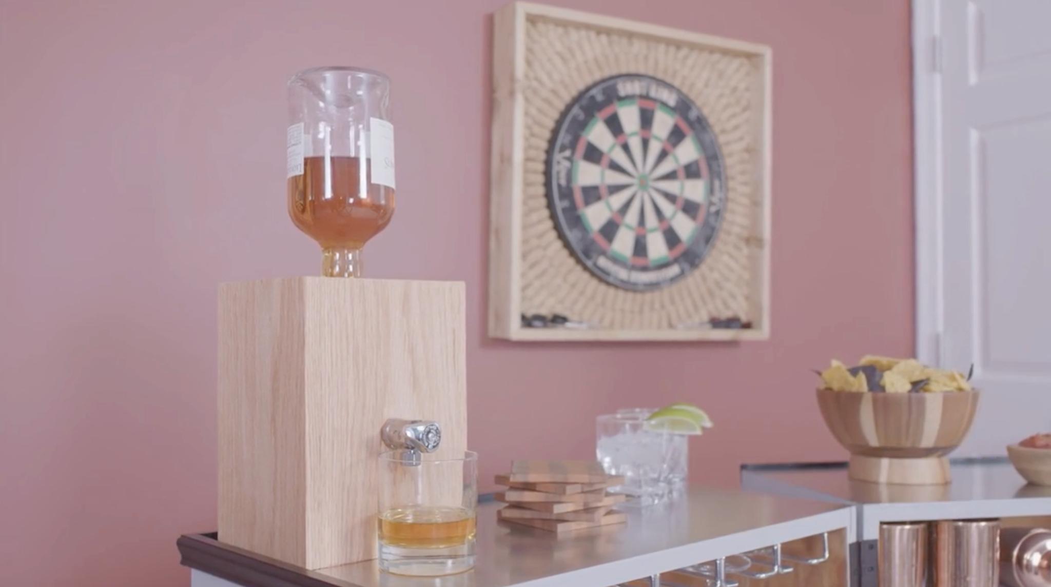 Stock your DIY liquor dispenser!