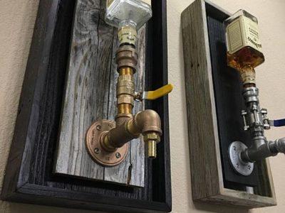 Wall-mounted liquor dispenser