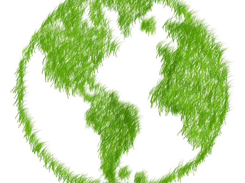 Green globe depicting an eco-friendly world