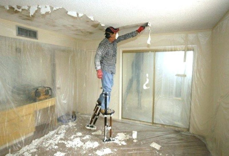 How To Remove Popcorn Ceiling And Make Smooth The Money Pit